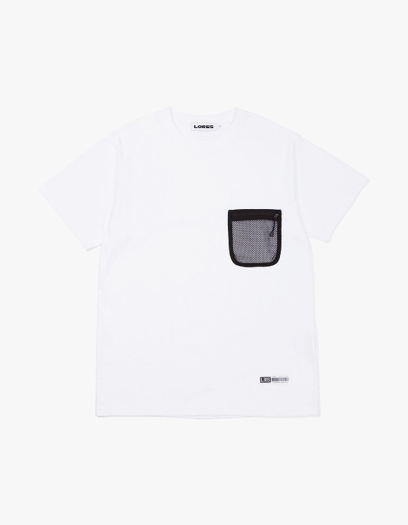 Lores Mesh Pocket S/S T-Shirts - White | HEIGHTS. | International Store