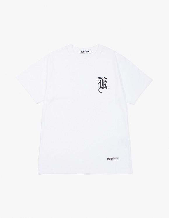 Lores Old English Logo T-Shirt - White | HEIGHTS. | International Store