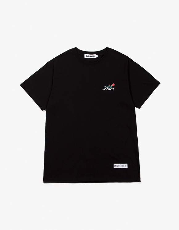 Lores Rose S/S T-Shirt - Black | HEIGHTS. | International Store