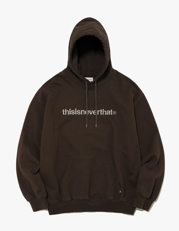thisisneverthat T-Logo Hooded Sweatshirt - Brown | HEIGHTS. | International Store
