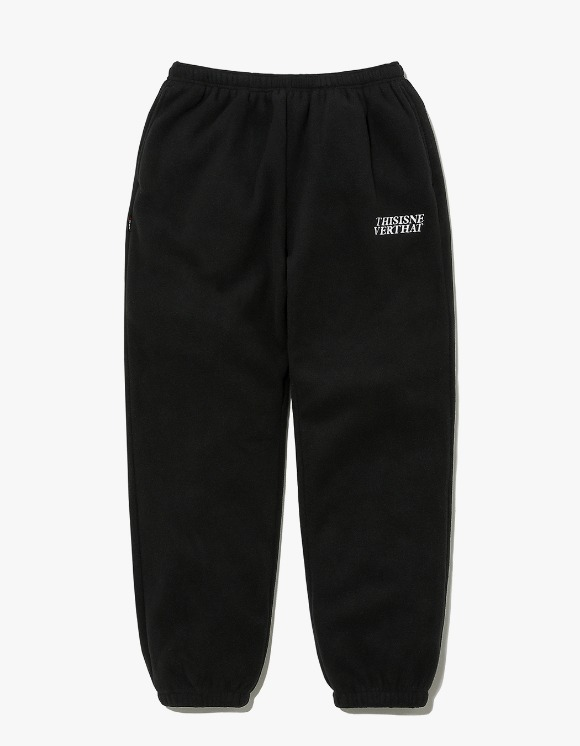 thisisneverthat POLARTEC Fleece Pant - Black | HEIGHTS. | International Store