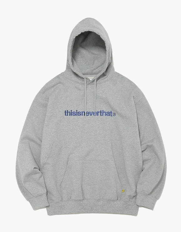 thisisneverthat T-Logo Hooded Sweatshirt - Grey | HEIGHTS. | International Store