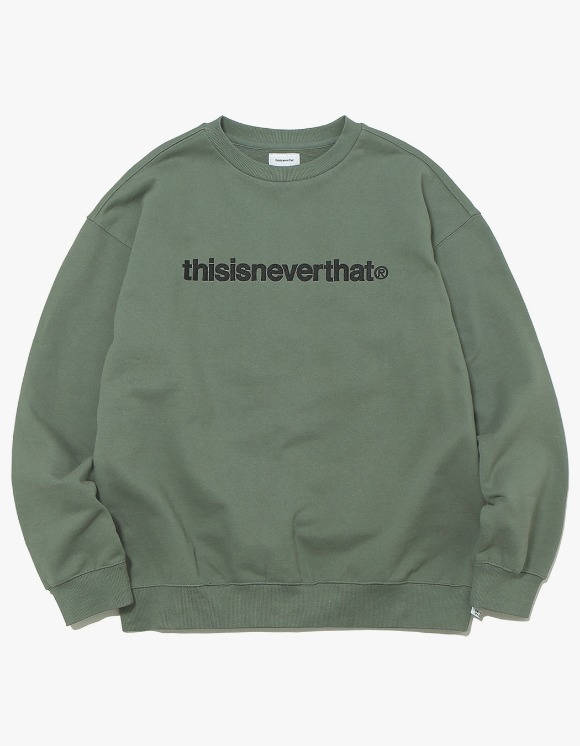 thisisneverthat T-Logo Crewneck - Olive | HEIGHTS. | International Store
