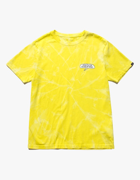 Vans HEIGHTS. X HOV Bleached S/S Tee - Yellow | HEIGHTS. | International Store