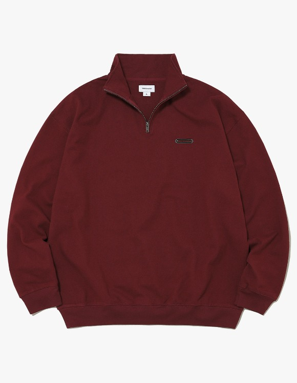 thisisneverthat Rubber SP Half ZIP Pullover - Burgundy | HEIGHTS. | International Store