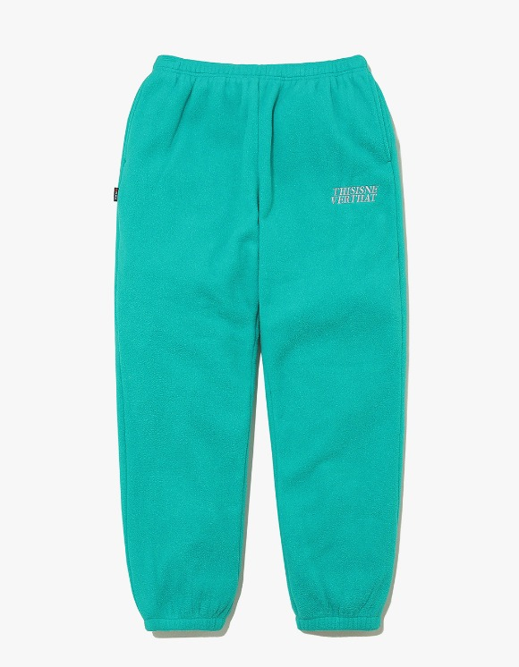 thisisneverthat POLARTEC Fleece Pant - Blue Green | HEIGHTS. | International Store
