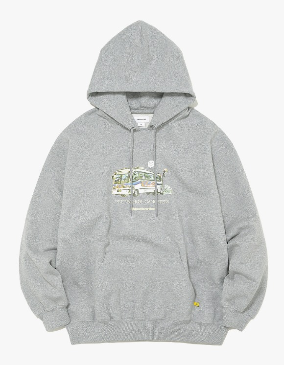 thisisneverthat WC Bus Hooded Sweatshirt - Grey | HEIGHTS. | International Store