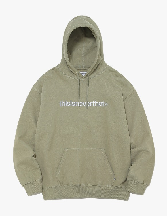 thisisneverthat T-Logo Hooded Sweatshirt - Light Olive | HEIGHTS. | International Store