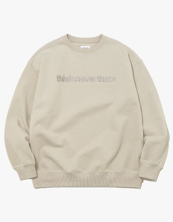 thisisneverthat T-Logo Crewneck - Beige | HEIGHTS. | International Store
