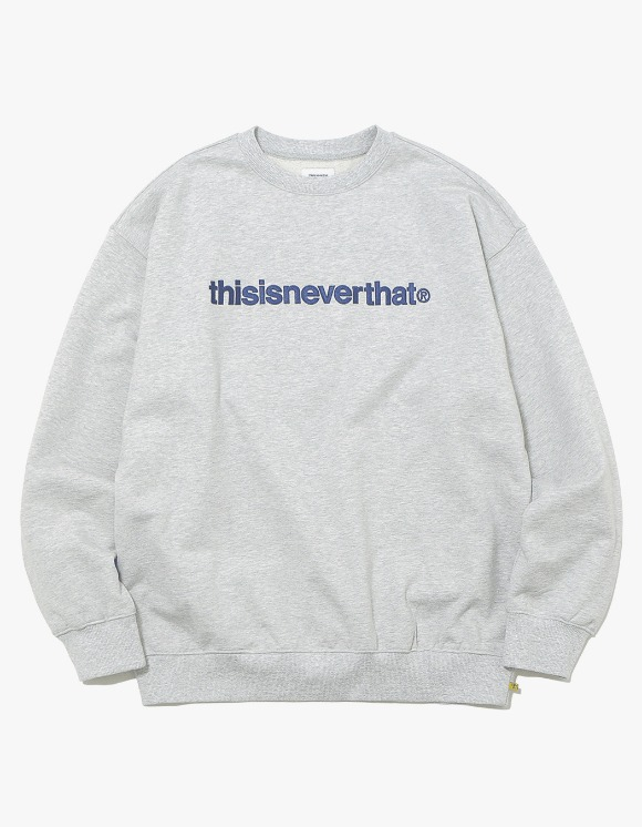 thisisneverthat T-Logo Crewneck - Grey | HEIGHTS. | International Store