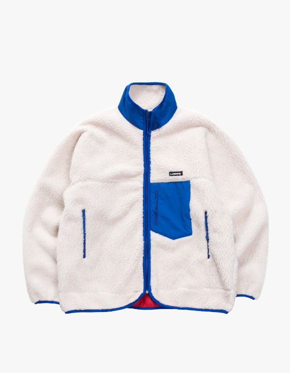 Lores Pile Fleece Zip Jacket - Beige/Blue | HEIGHTS. | International Store