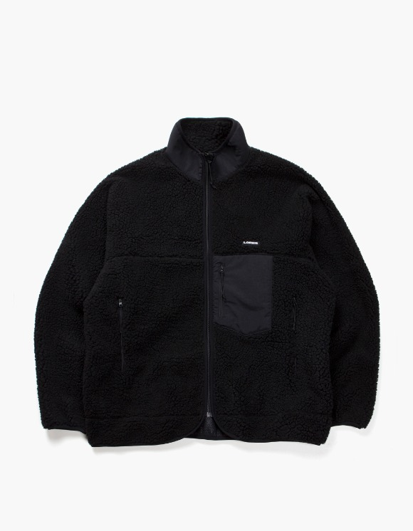 Lores Pile Fleece Zip Jacket - All Black | HEIGHTS. | International Store