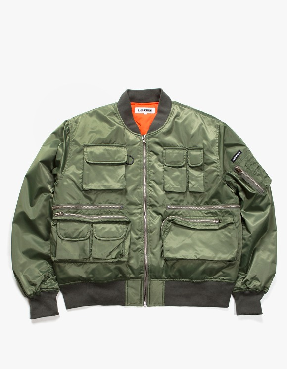 Lores Utility MA-1 Jacket - Olive Green | HEIGHTS. | International Store
