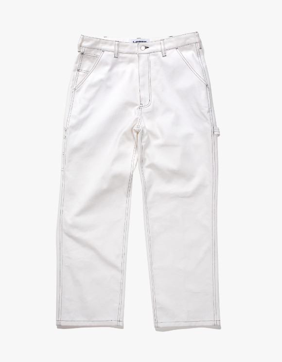 Lores Canvas Painters Pants - White | HEIGHTS. | International Store