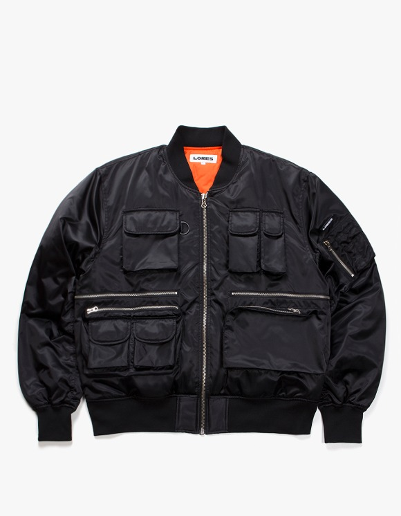 Lores Utility MA-1 Jacket - Black | HEIGHTS. | International Store